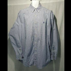 Ralph Lauren Golf Blake Blue Plaid Shirt Large